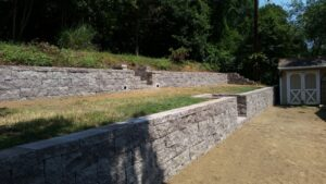 Picture of a retaining wall.